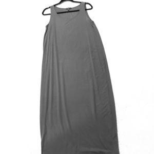 Eileen Fisher grey sleeveless maxi dress